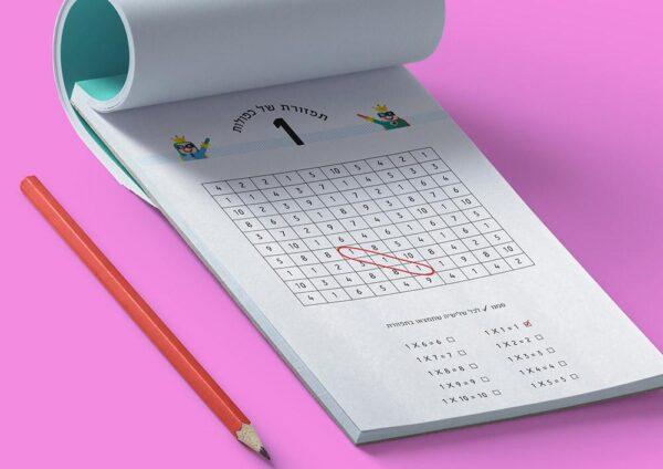 דפי עבודה לוח הכפל